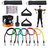 Kit Tubing Elástico Extensore Pilates Funcional Exercícios