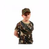 Camiseta Infantil Camuflado Fab Força Aérea Brasileira