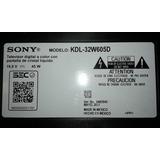 Televisor Sony Kdl-32w605d Desarme - Mainboard - Tiras Led