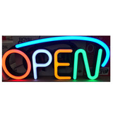 Letrero Luminoso Led +open+ Funsiones Ctrol Remoto Envio