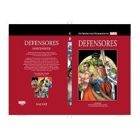 Defensores 23 Marvel Salvat Capa Vermelha