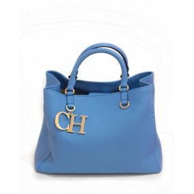 Remate Bolsa Carolina Herrera Azul 100% Original Y Nueva