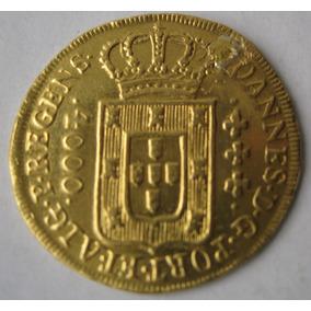 Frete Grátis Moeda 4000 Reis 1812 Ouro (182)