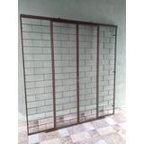 Porta De Vidro Porta De Madeira Grade De Ferro