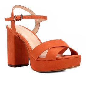 Sandália Couro Shoestock Meia Pata Tiras Cruzadas Feminina