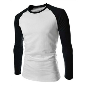 Camisetas Raglan Manga Longa Mais De 50 Cores Diferentes - Camisetas ... 0d77efb6e8259