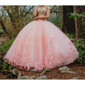 Vestido De Xv Años Color Rosa Talla Chica Con Accesorios