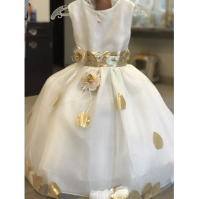 Hermoso Vestido Para Nena Para Bautizo,. Dama,presentacion
