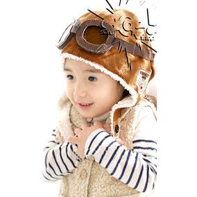 Gorro Bebê Piloto Aviador Macio Quentinho Moda Inverno Kids 9dc26455595