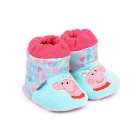 Pantufla Para Niña Peppa Pig Turquesa Tipo Botita Peppa Pig