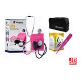 Kit Aparelho De Pressão Pink + Termômetro Clinico Digital