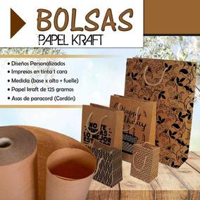 Bolsas De Papel Kraft Personalizadas - Bond, Cartoncillo