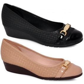 847289321 Sandalia Anabela Moleca Preta Feminino Sapatilhas - Sapatos Preto em ...
