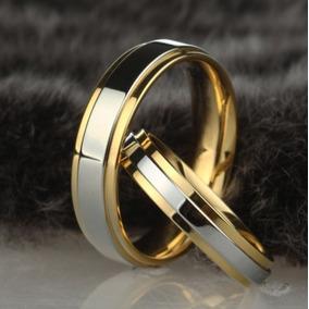 Aliança Unidade Noivado Casamento Banhado A Ouro Prata