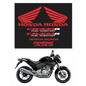Kit Adesivo Emblema Faixa Honda Cb300r 2010 À 2012 Preta