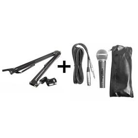 Kit Pedestal Suporte Articulado + Microfone Soundvoice Sm-58