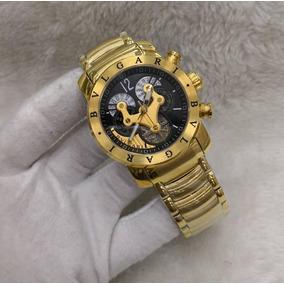 0f6da9092bf Relogio Bvlgari Dourado Automatico Unissex - Relógios De Pulso no ...