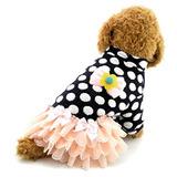 Smalllee_lucky_store Vestido Para Perro Tutu Patrón De Punto