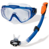 Kit Mergulho Intex Aqua Pro Máscara E Snorkel Silicone