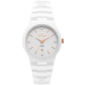 4b Rel%f3gio Feminino Technos Branco 2036bp - Relógios De Pulso no ... f5c92eea9c