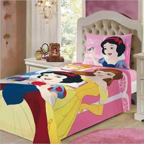 e944719ba6 Jogo De Cama Lençol 3 Pçs Infantil 150 Fios Princesas Disney