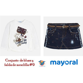 Conjunto Blusa Y Falda Mayoral Est. 4056 # 9 Años En Oferta