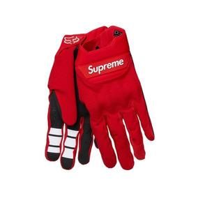 Supreme / Fox Guantes Para Motocross - Talla S Color Rojo