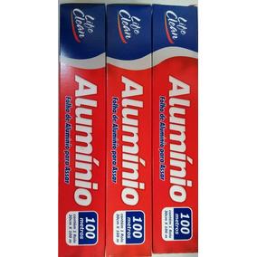Papel Alumínio Contém 1 Rolo De 30cm X 100mts Life Clean