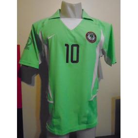 Camiseta Selección Nigeria Corea Japón 2002 Okocha  10 M Psg 70e603ad9f722