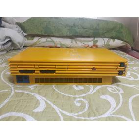 Playstation 2 Scph39xxx Amarelo Destravado Funciona Por Opl