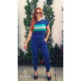 Conjunto Blusa + Calça | Varda Clothing | Azul Escuro
