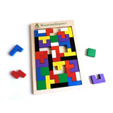 Juego Tetris En Madera Didactico