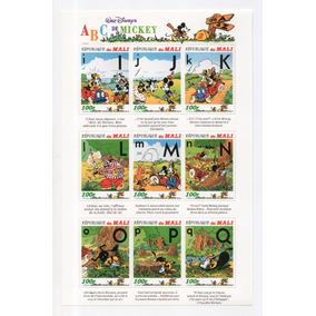 Mali - Abc Do Mickey Disney - 1996 - 5 Blocos / Casa Do Selo