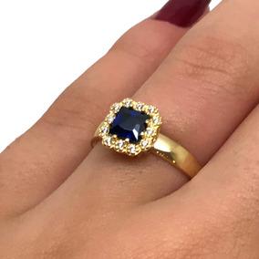 8ff4a4ca93619 Réplica Do Anel Safira Azul Princesa Kate - Anel de Ouro no Mercado ...