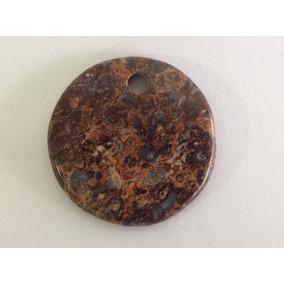 Cabujón Piedra Semipreciosa Perforada 5 Cm De Diámetro