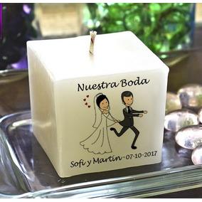Souvenir Casamiento Velas 4 X 4 Oferta Enamorados Hasta 14-2