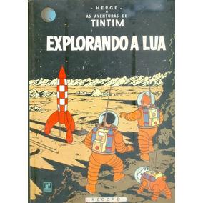 *sll* Gibi Tintim - Explorando Á Lua - Capa Dura Editora