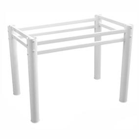 Base Retangular P/ Mesa Vidro Madeira Pedra 6 Cadeira 150x80