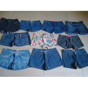 Lote Com 10 Shorts Jeans Femininos Usados Tam. 36 Ao 42