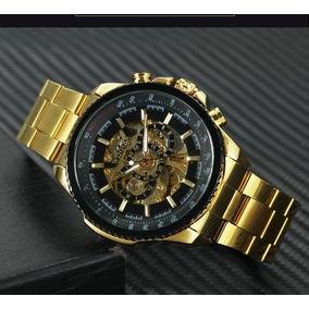 Relógio Masculino Luxo Winner Aço Inox Mecânico Automático