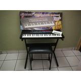 Teclado / Piano Digital Miles Modelo 4900 Con Soporte, Silla
