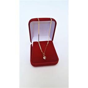 Correntinha Feminina Em Ouro 18k Piastrine 40cm Ping Coração