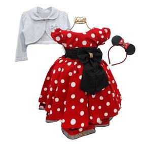 4a05b99ae39 Vestido Da Minnie Vermelho Com Bolinha Preta - Vestidos Meninas ...