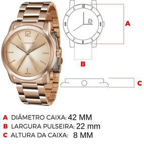 0e217557247 Relogio Lince Feminino Rose Grande - Relógios De Pulso no Mercado ...
