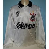 Camisa Corinthians Kalunga Anos 1990 Finta Manga Longa - L2 216df2f16679a