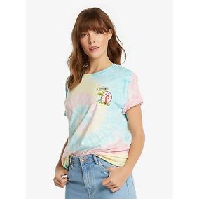 Bob Sponja Camiseta Para Dama Gary Tie Dye ,box Lunch