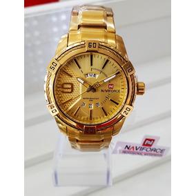 393f0c342b9 Relogio Dourado Masculino Grande Barato Bonito Pesado A O - Relógios ...