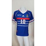 Camisa França Zidane Copa 98 - Camisas de Seleções de Futebol no ... c79bec50c0ed6