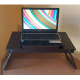 Mesa Plegable De Madera Para Laptop Con 4 Niveles De Ajuste