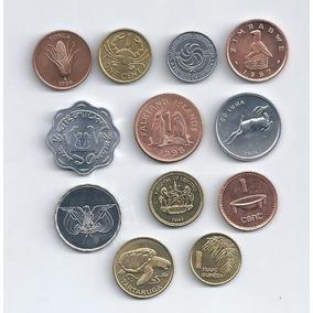 Lote De 12 Monedas Mundiales Sin Circular